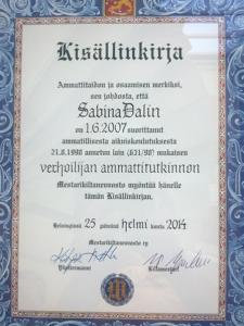 Verhoilija Sabina Dalin